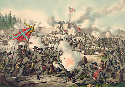 Civil Painting - Assault On Fort Sanders by American School
