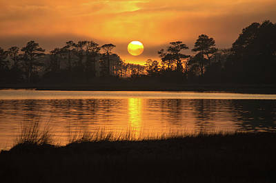Photograph - Assawoman Bay Sunset Reflection by Bill Swartwout Fine Art Photography