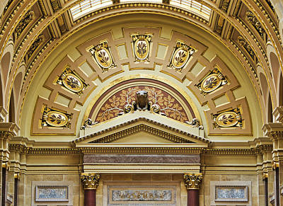 Photograph - Assembly Entrance - Capitol - Madison - Wisconsin by Steven Ralser