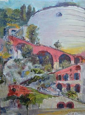 Assenseur Du Chateau Art Print by Bryan Alexander