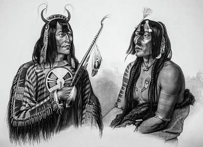 1833 Photograph - Assiniboin Native Americans by Douglas Barnett