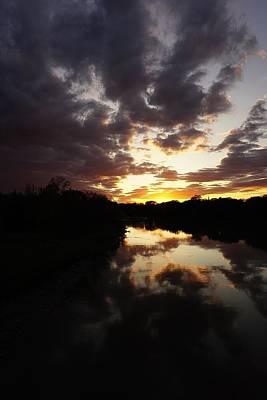 Photograph - Assiniboine A River Sunset No.4 by Desmond Raymond