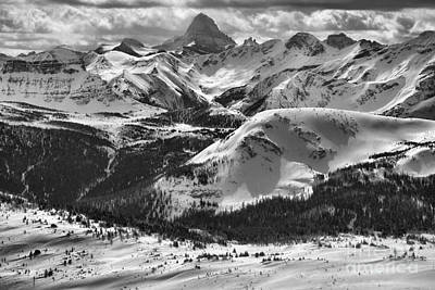 Photograph - Assiniboine In The Middle Black And White by Adam Jewell