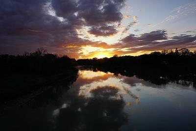 Photograph - Assiniboine River Sunset No.1 by Desmond Raymond