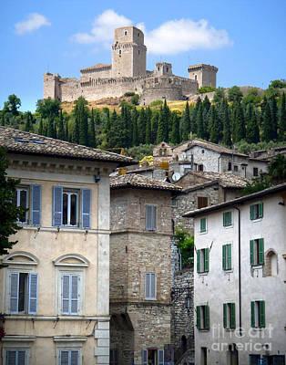 Assisi Italy - Rocca Maggiore - 02 Art Print
