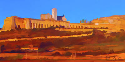 Painting - Assisi Italy by Wally Hampton
