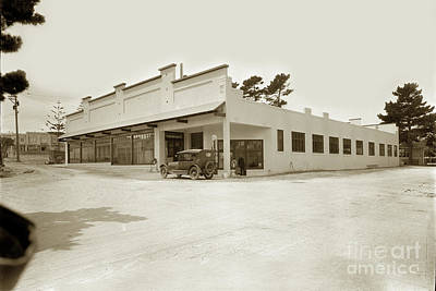 Photograph - Associated Gas Station In The Holman Gartage Building Circa 1923 by California Views Archives Mr Pat Hathaway Archives