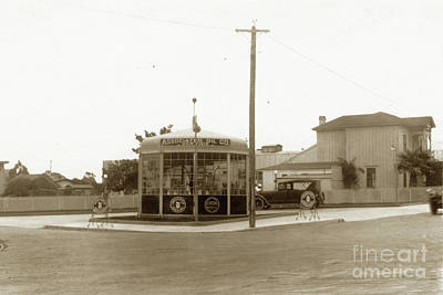 Photograph - Associated Gas Station  Munras Avenue And Webster Street, Monterey 1924 by California Views Archives Mr Pat Hathaway Archives