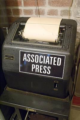 Associated Press Teletype Machine Art Print by Mark Williamson