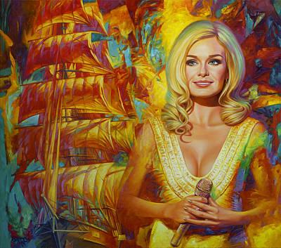 Katherine Jenkins Painting - Assol. Scarlet Sails. Starring Katherine Jenkins by Yury Fomichev