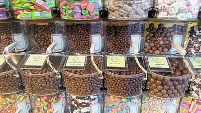 Chocolate Covered Peanut Photograph - Assorted Chocolates And More by Robert Banach