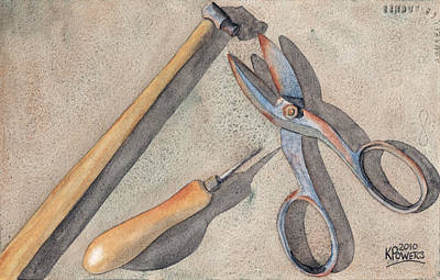 Assorted Tools Original by Ken Powers