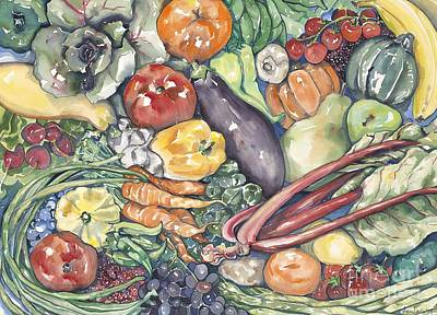 Assorted Vegetables Art Print by Annie Laurie