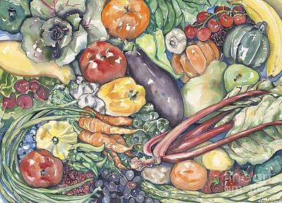 Assorted Vegetables Art Print