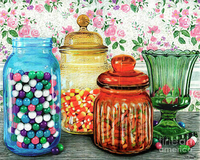 Painting - Assortment Of Color And Taste	Color Pencil On Paper by Peter Piatt