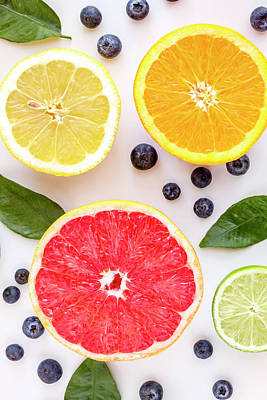 Photograph - Assortment Of Fresh Citrus Fruits by Teri Virbickis
