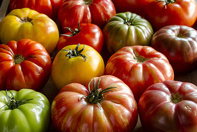 Photograph - Assortment Of Fresh Heirloom Tomatoes by Teri Virbickis
