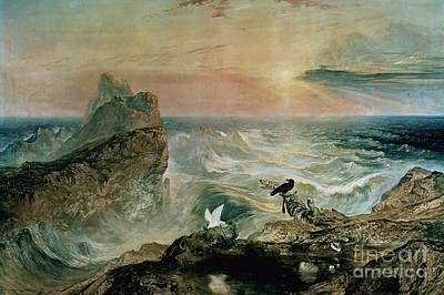 Crt Wall Art - Painting - Assuaging Of The Waters by John Martin