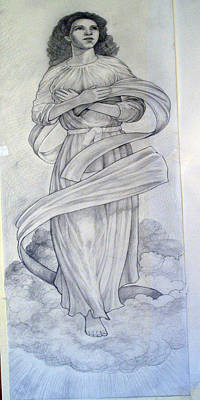 Drawing - Assumption Of The Virgin by Patrick RANKIN