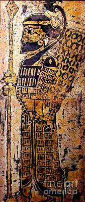 Soldiers Mixed Media - Assyrian Soldier by Caroline Street