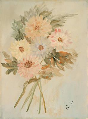 Aster Bouquet Art Print by Betty Stevens
