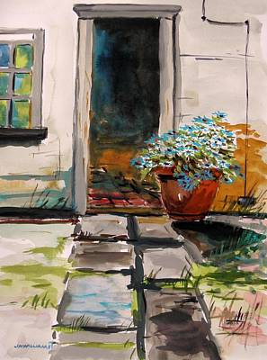 Jmwportfolio Painting - Aster By The Door by John Williams