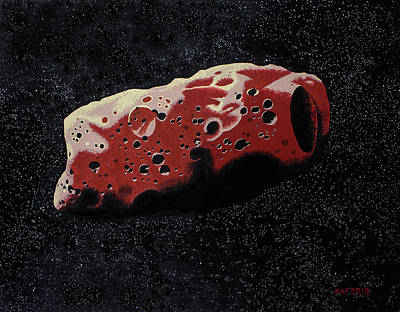 Deep Space Art Painting - Asteroid by Kurt Kaf