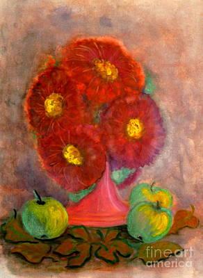Painting - Asters The Flowers Of The Fall by Anna Folkartanna Maciejewska-Dyba