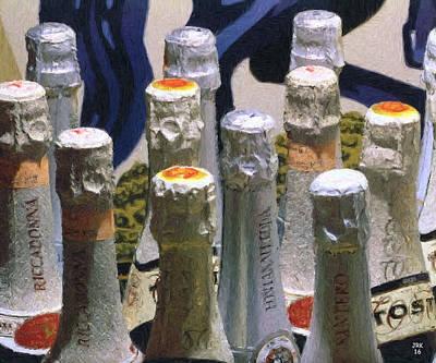 Sparkling Wines Painting - Asti Spumanti, Italy by John Kohn