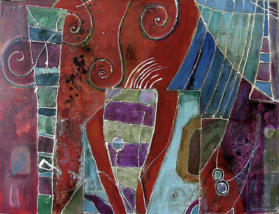 Subterranean Painting - Astica by Lory MacDonald