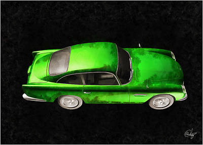 Sean Connery Mixed Media - Aston Martin 1963 Verde by Edier C