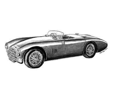 Automotive Drawing - Aston Martin Db-5 by Peter Piatt