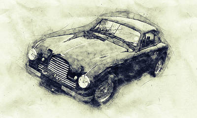 Transportation Mixed Media - Aston Martin DB2 GT Zagato 1 - 1950 - Automotive Art - Car Posters by Studio Grafiikka