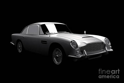 Digital Art - Aston Martin Db5 by David Marchal