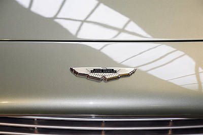 Photograph - Aston Martin Db5 Front Badge Profile by ISAW Gallery