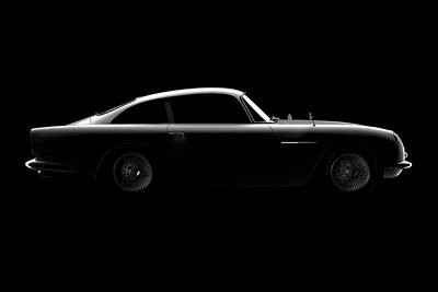 Aston Martin Db5 - Side View Art Print