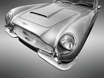 Photograph - Aston Martin Db6 In Black And White by Gill Billington