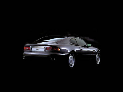 Digital Art - Aston Martin Db7 by Maye Loeser