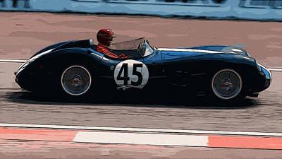 Painting - Aston Martin Dbr 1-300 - 1959 by Andrea Mazzocchetti