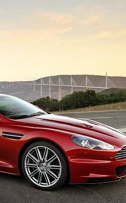 Mountain Digital Art - Aston Martin Dbs 2008 Red Side View Sport Mountain 27693 300x480 by Mery Moon