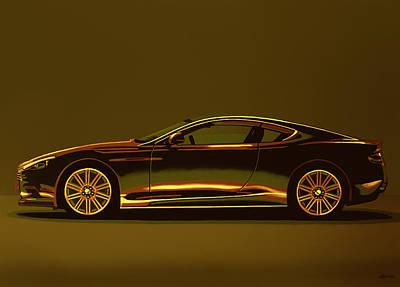 Mixed Media - Aston Martin Dbs V12 2007 Mixed Media by Paul Meijering