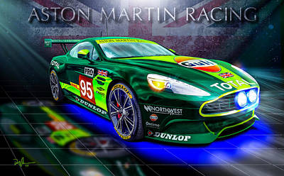 Digital Art - Aston Martin Racing by Don Olea