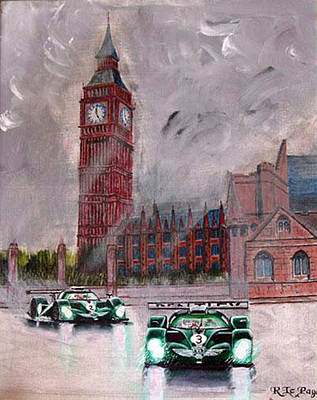 Painting - Aston Martin Racing In London by Richard Le Page