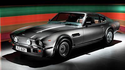 Transportation Digital Art - Aston Martin V8 Vantage by Maye Loeser