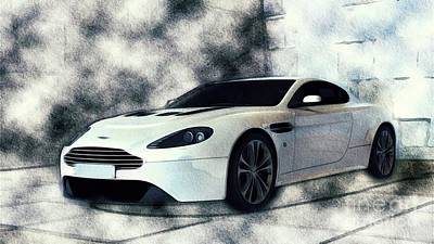 Sports Paintings - Aston Martin Vanquish by Esoterica Art Agency