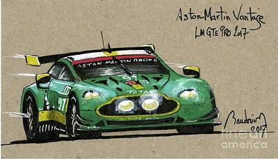 919 Painting - Aston Martin Vantage  by Alain Baudouin