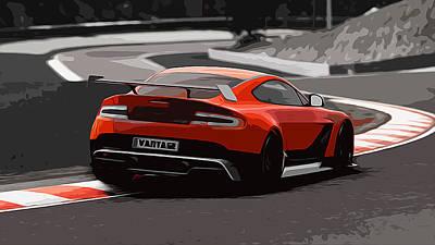 Painting - Aston Martin Vantage Gt12 - Trackday by Andrea Mazzocchetti