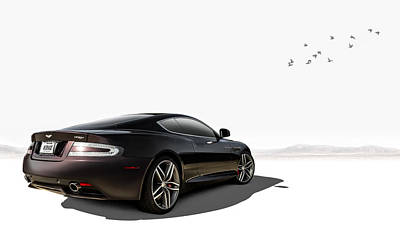 British Digital Art - Aston Martin Virage by Douglas Pittman