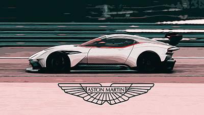 Painting - Aston Martin Vulcan by Andrea Mazzocchetti