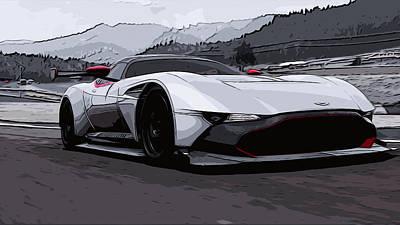 Painting - Aston Martin Vulcan - Trackday by Andrea Mazzocchetti